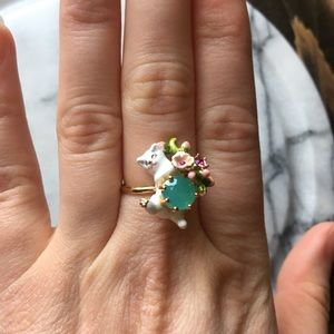 Anthropologie adjustable cat ring